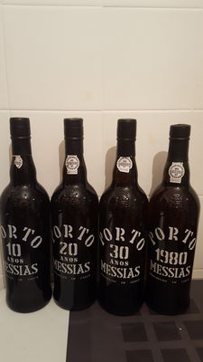 Porto Messias: 1x 10 years old Tawny Port & 1x 20 years old Tawny Port & 1x 30 years old Tawny Port & 1x 1980 Colheita Port - bottled 2015 - 4 bottles