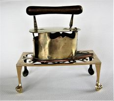 Copper iron and holder on legs-second half 19th century