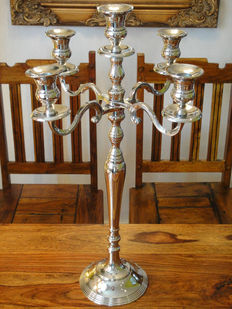 Large silver candle holder