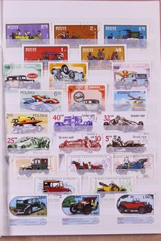 Cars and Motors 1950/2000 - Motif Collection in 9 Stock books