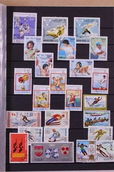 Olympic Games 1950/2000 - Motif Collection in 10 Stock books