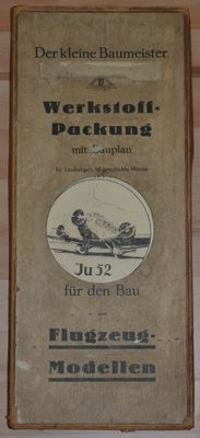 Der kleine Baumeister JU 52 - building plan and material packing