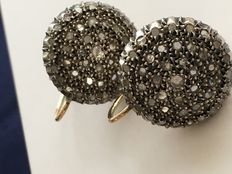 Vintage earrings, in antique style – gold, silver and diamonds