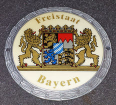Freistaat Bayern - Grill Badge - Used condition, never mounted - Virtually no traces of wear