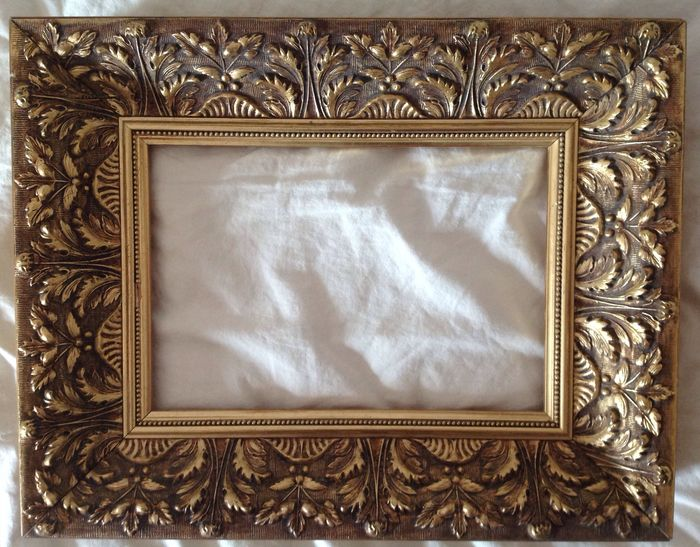 451d9ebd768 Six decorative gold plated painting frames - Catawiki