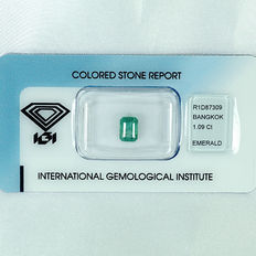 Emerald - 1.09 ct no reserve price