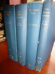 A E Powell  -  theosophical constructions and the astral body - 4 volumes -  1925 / 1930