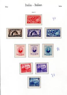 Italy 1936/45 - Collection lot - SASS#: 426/35, 439/48, A111/16, 455/57