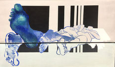 Monique van Steen - Sleepers in Blues (diptych)