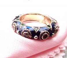 Michelle della Valle - 18ct gold and 925 silver enamelled ring - UK size L1/2 or USA size 6
