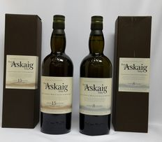 2 bottles - Port Askaig 15 years old & Port Askaig 8 years old