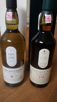 2 bottles - Lagavulin 8 years old limited edition & lagavulin 16 years old