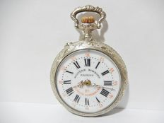 ROSKOPF – Old pocket watch with chiselled casing from the early 20th century