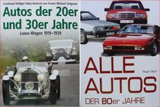 2 Books : Cars of the 20s and 30s & Cars of the 80s
