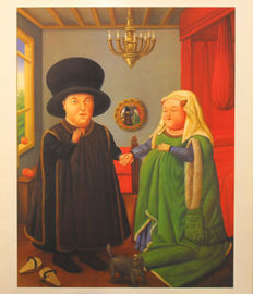 4 x-Fernando Botero - The Arnolfinis - Mother Superior - The Doll - Over the Balcony