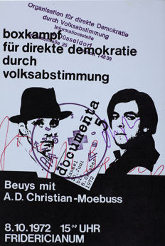 Joseph Beuys (and A.D.Christian-Moebuss) - Boxkampf für direkte Demokratie durch Volksabstimmung (Boxing match for direct democracy through referendum)