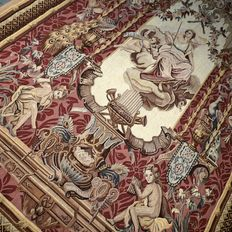 UNIQUE: Magnificent, antique, handwoven Goddess Fortuna tapestry – 181 x 121 – collector's item