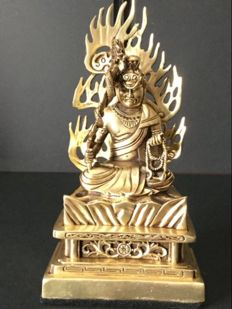 Depiction of Akasagarbha in bronze and copper - Japan - late 20th century