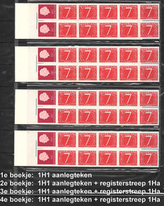 The Netherlands 1964 - Specialized collection of stamp booklets 1 and 2