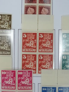 The Netherlands 1950 – Complete year of stamps and blocks of four –