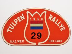 Old original Tulpen Rallye plaque number 29.