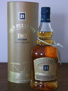 Old Pulteney 21 years old 1983 Limited edition