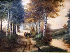 Waterman (20th century) - Forest landscape with Mallejan.
