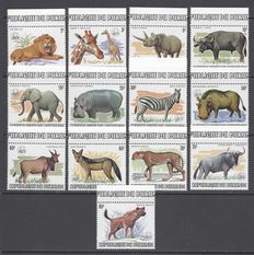 Burundi 1983   – WWF Animals set  –   Yvert 864/876