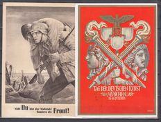 German Empire/Reich with territories 1933/1945 - collection of 70 propaganda cards / letters / postal stationary