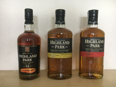 3 bottle - Highland Park 12, 15 & 18 years old