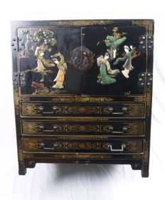 Black lacquer work cabinet, China, 2nd part 20th century.