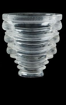 "Lalique (France) - ""Saint Marc"" Crystal vase."