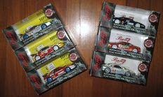 Bang Model - Scale 1/43 - Lot with 6 models: 6 x Ferrari F355 Berlinetta Challenge 1998 - Various races