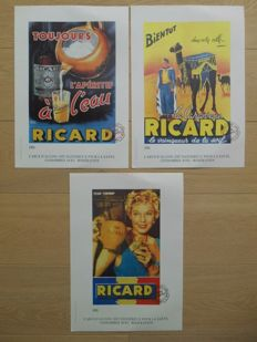 3 limited advertising signs by Ricard from 1970