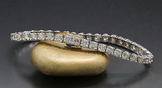 Luxurious brilliant bracelet – total 11.50 ct in 585 white gold – no reserve price