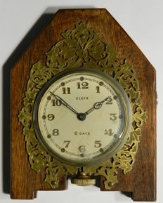 Elgin National Watch Co. 8 - days Wood Table Clock 1938