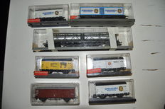 Röwa H0 - 7 Goods wagons from different companies