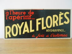 Rare advertising sign for Royal Florès - from 1930.