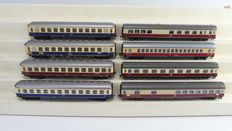 Roco/Fleischmann H0 - 4270/44404/1500T - 8 TEE express train carriages 1st class and dining carriage of the DB
