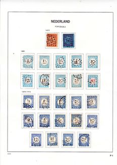 The Netherlands 1906/1925 – Collection of postage due stamps and parcel transfer stamps