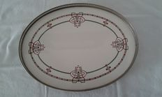 Porcelain tray with stylised decorations