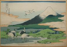 "Woodblock print by Katsushika Hokusai (1760-1849) from the series ""Thirty-six Views of Mount Fuji"" (reprint) - Japan - approx. 1900."