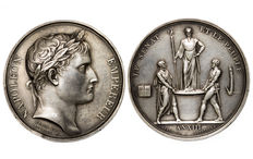 France - 'Sacre de Napoléon I' Medal, year XIII (1804) by Denon and Andrieu – Silver