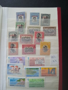 Spain and Portugal, Madeira Açores  - batch in four stock books.