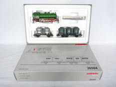 "Märklin H0 - 26504 - Three-part ""Henkel"" train set, with flameless Steam locomotive Series of the DB"