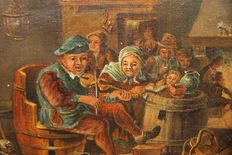 Dutch/Flemish school (18/19th century)-music at the Inn