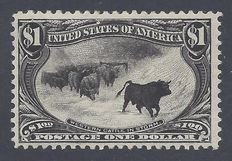 United States 1898    – Omaha exposition 1$ Western Cattle in Storm –   Yvert 136