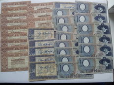 Netherlands - Collection of 32 banknotes 1938/1943