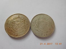 Belgium – 20 francs 1933 French and Flemish, Albert I (2 pieces) – silver