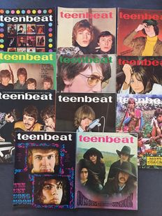 Teenbeat popmagazines - lot with 11 rare unbound editions - 1967